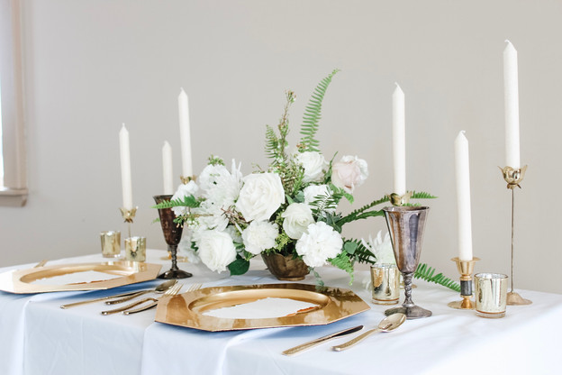 White and Gold Table