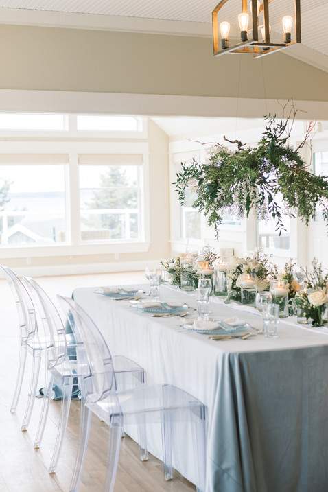 Icy Blue Wedding Tablescape