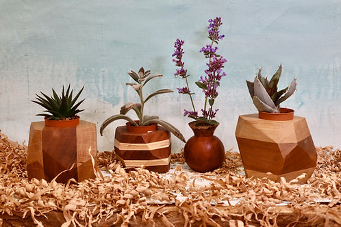Variety of small plant pots and weed pots & vases