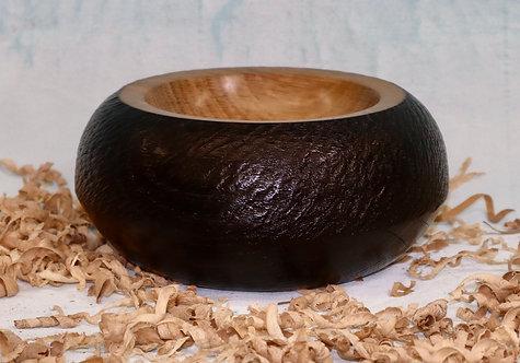 Scorched & Textured Oak Pot.