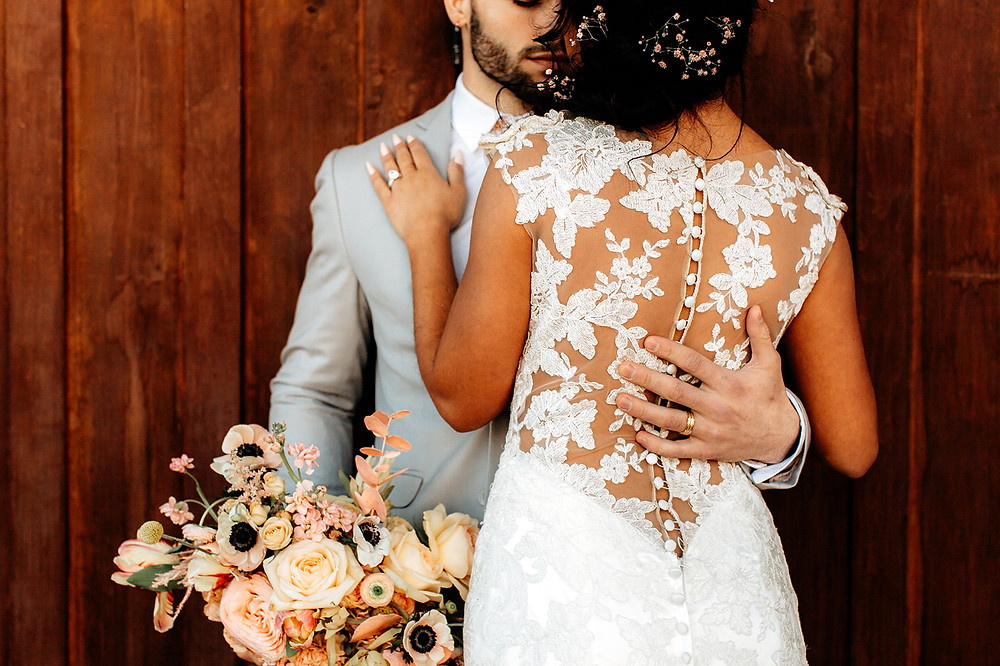 Illusion bridal gown by #allurebridals