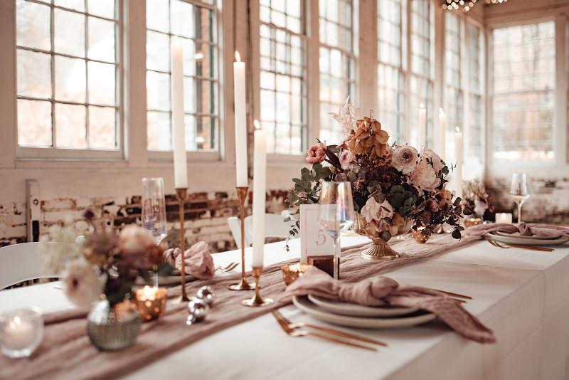 Boho Blush Wedding Decor in Connecticut