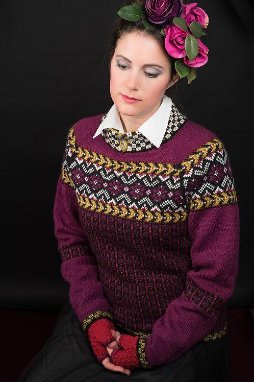 KH Frida 103 Fridas blomsterranke, genser i  Mini Sterk