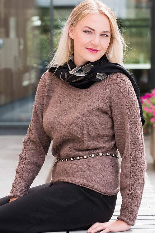 Hillesvåg, JULIE- genser med raglan og mønster - Ask