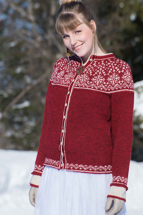 English pattern Christmas star - Christmas jacket with a round yoke