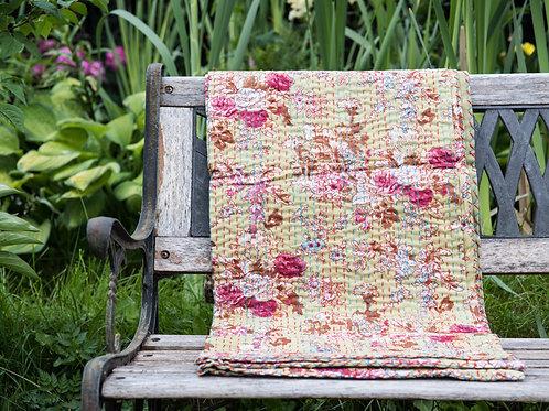 Liten Quilt, Japansk blomstring ca 150 x 210 cm