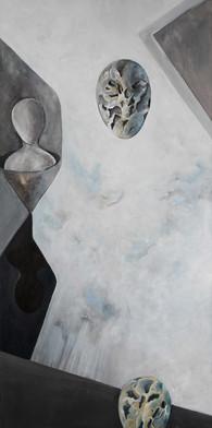 Egg og figur 50 x 100 cm