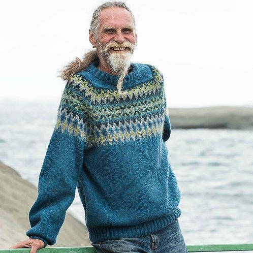 Hillesvåg, Fjellvind - Herregenser med mønstret bærestykke