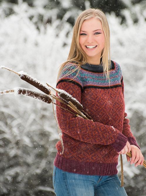 KH Strikkepoesi 005 HØSTDIS - genser med raglanfelling
