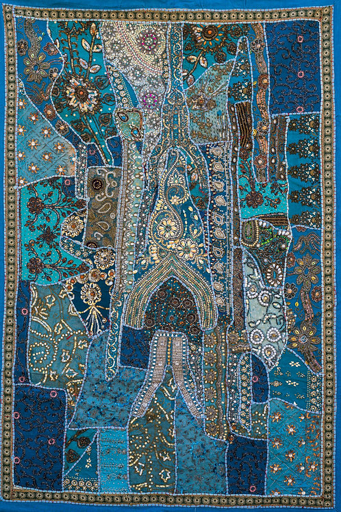 1001 natt Turkis nr. 208, lite veggteppe ca 100 x 150 cm
