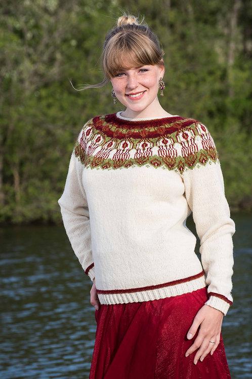 Hillesvåg, Glastonbury- genser med rundt bærestykke i Sølje og Vilje