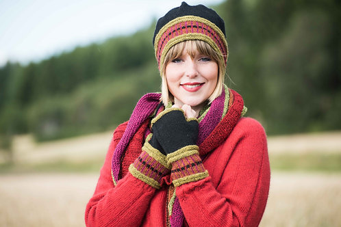 English pattern, Mathilde - hat, shawl and wrist warmers