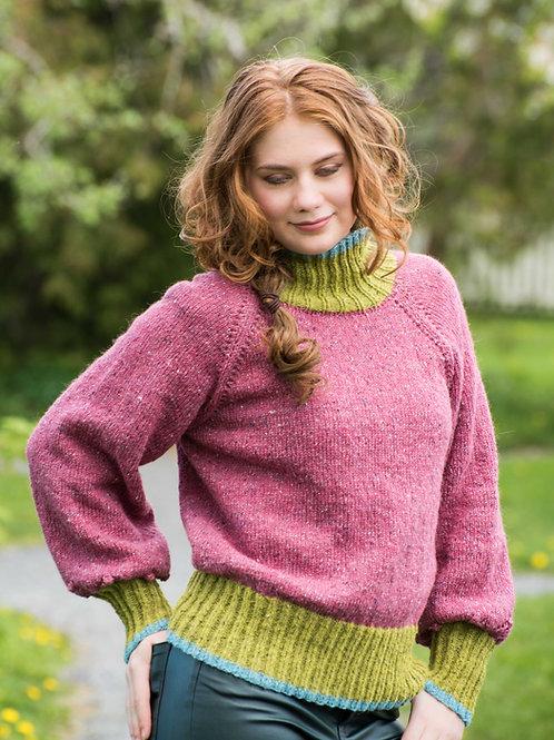 E 136 JASILMIR– genser med puffermer og raglanfelling