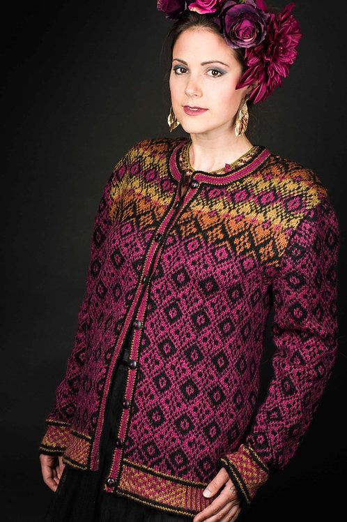 Hillesvåg, Fridas grafiske jakke - fargerik kofte i Tinde