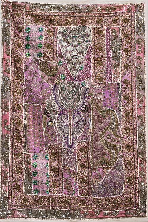 1001 natt Rosa nr. 221, lite veggteppe ca 100 x 150 cm