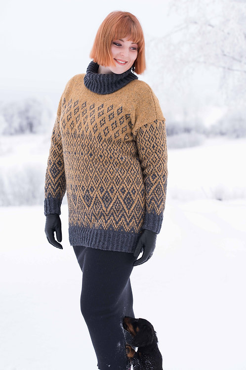English SIRUPSSNIPP Sweater with zigzag pattern