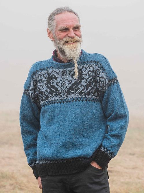 Hillesvåg, Nidhogg - Herregenser med mønstret bærestykke