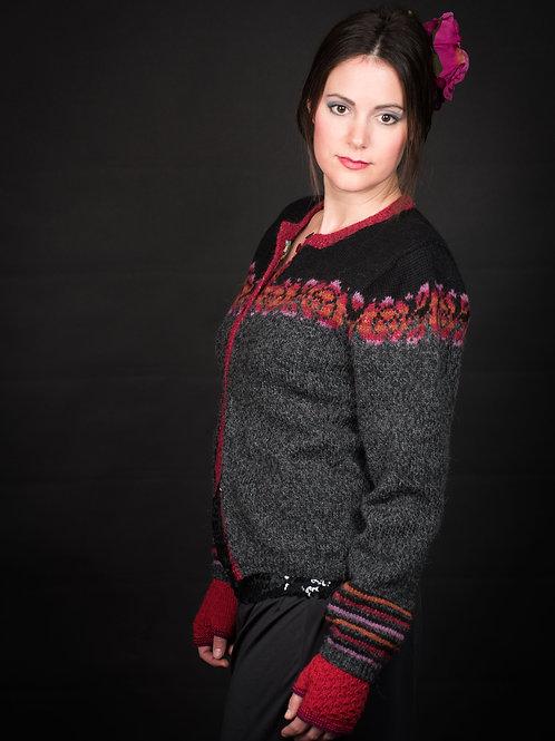 KH Frida 106 Fridas Rosejakke, Sterk og Felted Tweed