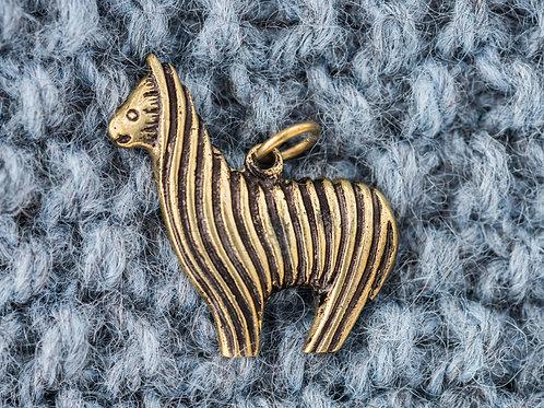 Alpakka anheng 3 x 3,5 cm - Messing