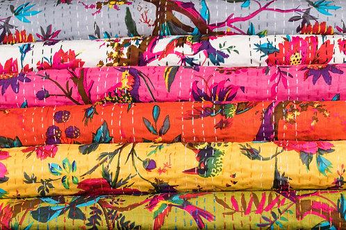 Stor Quilt, Junglebirds ca 230 x 280 cm