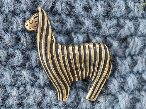 Alpakka nål 4 x 4,5 cm - Messing