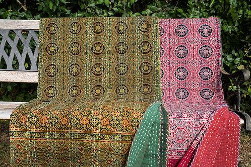 Stor quilt Quilt, Varanasi ca 260 x 210 cm