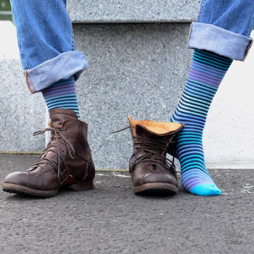 Stripy, herre sokk