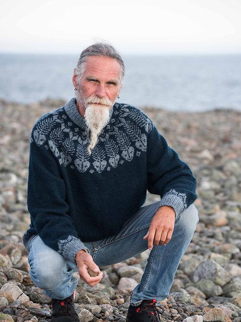 Fiskebein- Herregenser med rundt bærestykke i Sølje