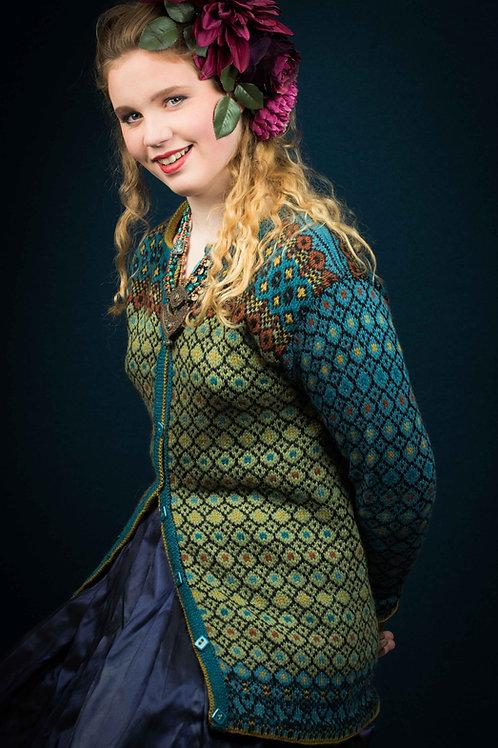 English KH Frida 105 FRIDA'S long colorful jacket Sterk