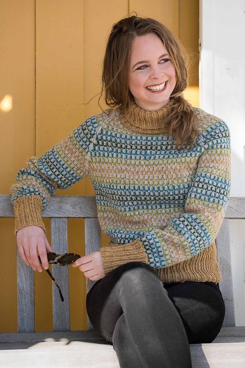 English RUTERDAME -  Lady Sweater with diamonds and tall Rib