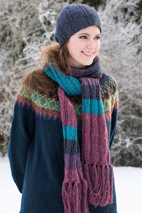English pattern - SNELLA, hat and scarf, Felted Tweed