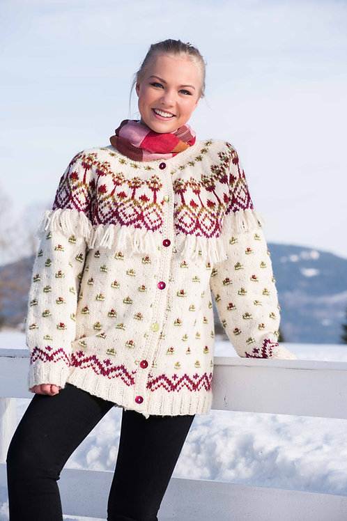 QUERO - jakke med rundfelling og frynser  - Blåne og Troll