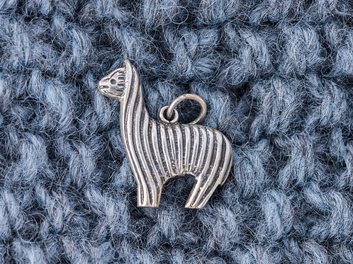 Alpakka anheng 3 x 3,5 cm - sølv