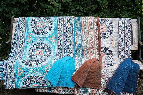 Stor quilt Quilt, Hjerteblomst ca 260 x 210 cm