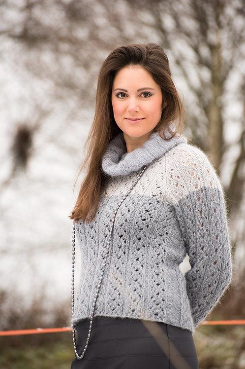 TR 103 Trend AFTENBRIS - genser med hullstrikket ribbemønster