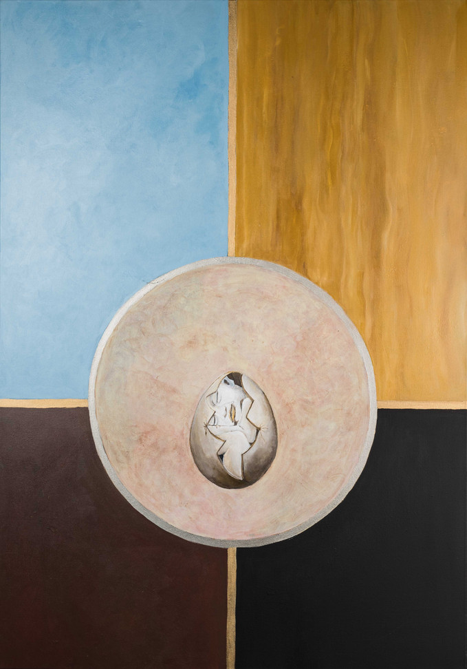 Egg i sirkel 70 x 90 cm