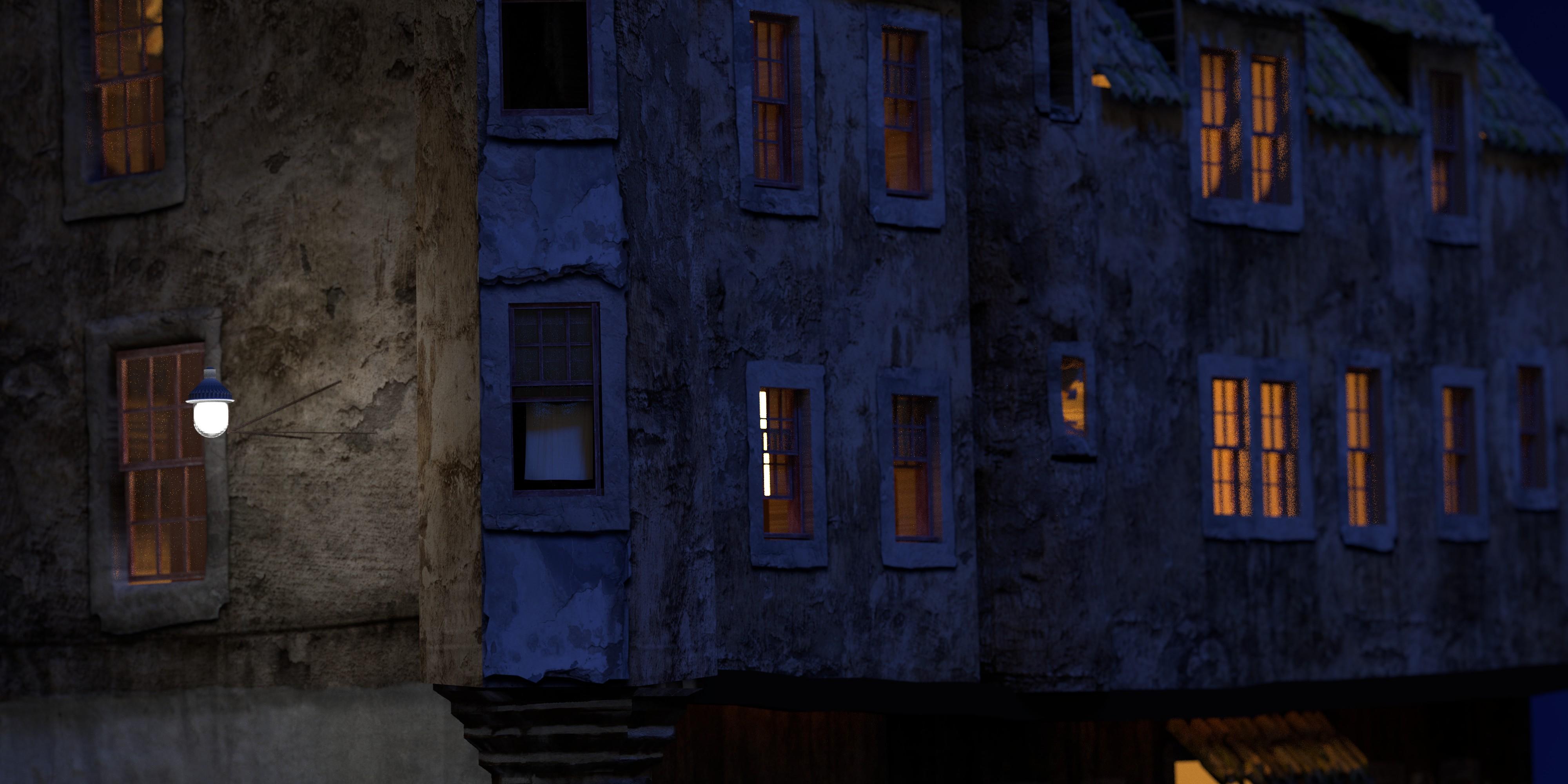 Curtained window cotton cu lamp