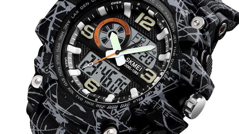 SKMEI New S Shock Men Sports Watches Big Dial Quartz Digital Watch / Men Luxury