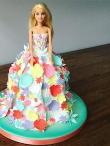 Flower Power Barbie Cake