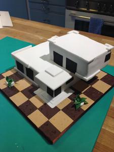 Modernist House Cake
