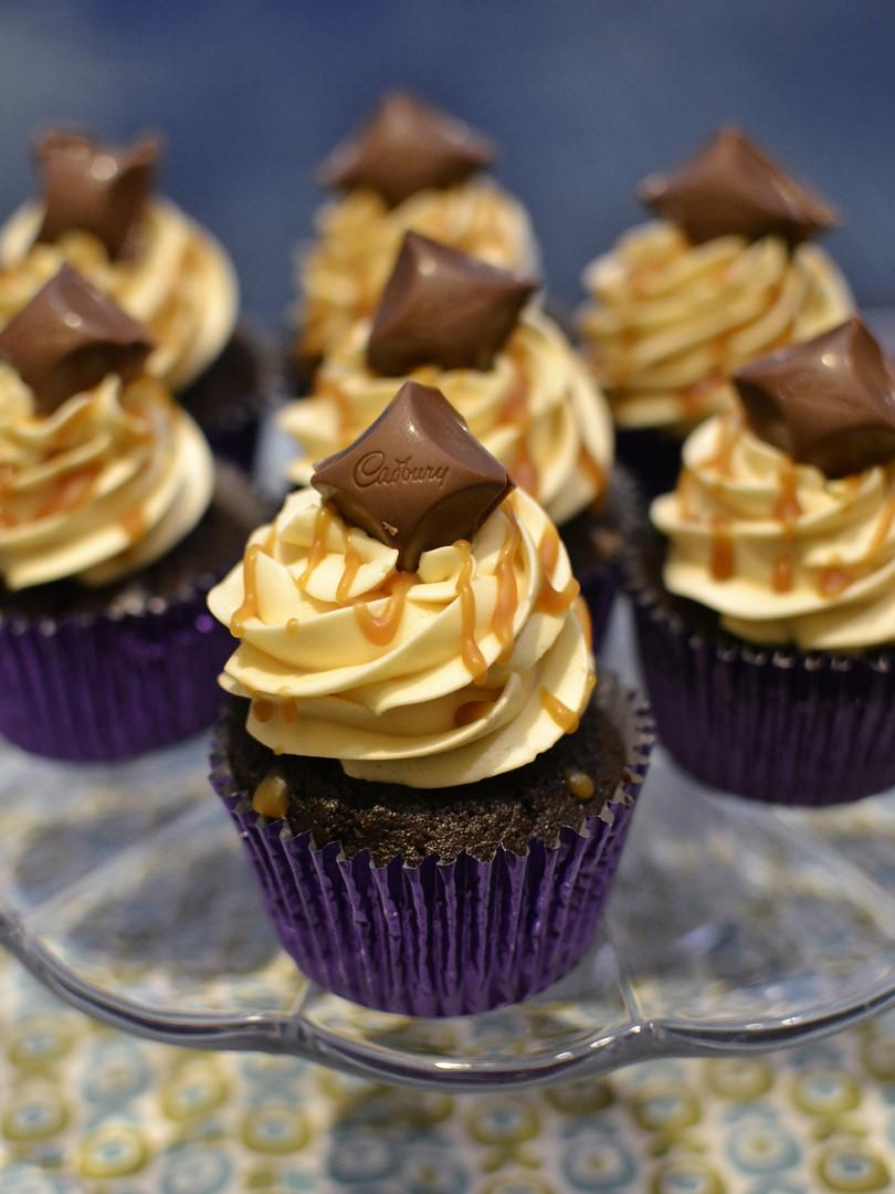 Chocolate & Caramel Cupcake