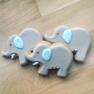 Christening Elephant Cookies