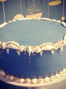 Blue Baroque Cake