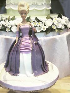 Marie Antoinette Barbie Doll Cake