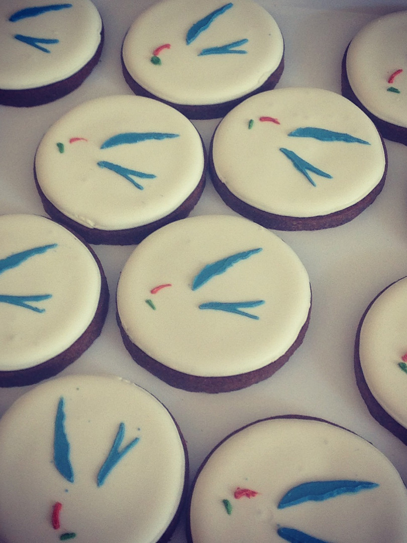 Italian Permanent Representation - Logo cookies for the semester of the Presidency of the EU Council in 2015