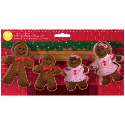 Gingerbread Family Cookie Cutter Set of 4