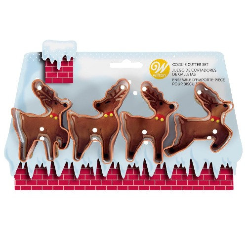Reindeers Cookie Cutters Set of 4