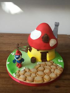 Smurfs House Cake