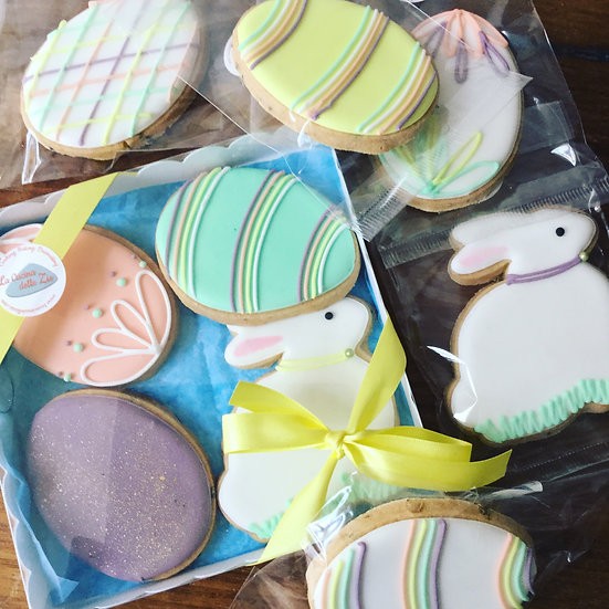 Box of 4 Easter cookies
