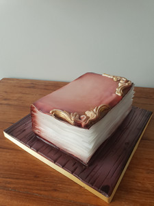 Ancient Book Cake